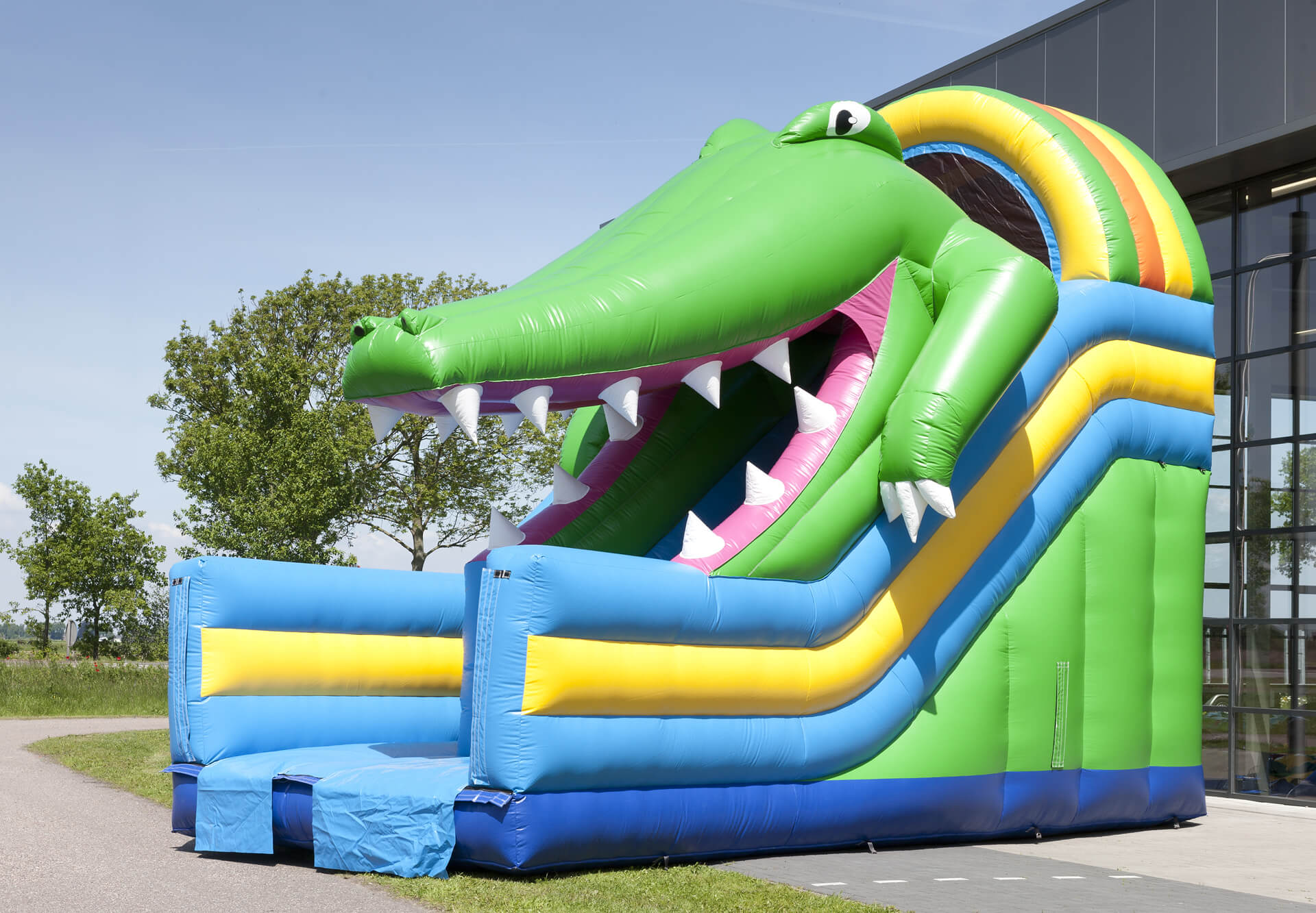 Toboggan gonflable crocodile